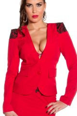 Sacou Amely Red - Magazin online haine de dama Fashion