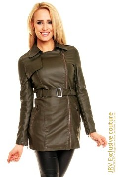Trench Judy Kaki marca JRV Exclusive Couture la  Lei