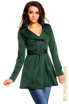 Trench Odette Green marca JRV Exclusive Couture la  Lei