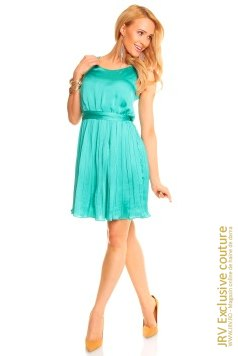 Rochie plisata May Turquoise marca JRV Exclusive Couture la 139 Lei