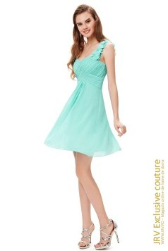 Rochie cocktail Adrien Aqua marca JRV Exclusive Couture la  Lei