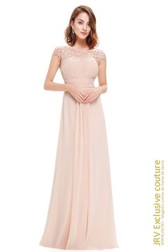 Rochie eleganta Wendy Light Pink marca JRV Exclusive Couture la 290 Lei