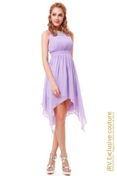 Rochie cocktail Lyra Light Purple marca JRV Exclusive Couture la  Lei