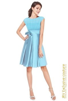 Rochie cocktail Tasha Light Blue marca JRV Exclusive Couture la  Lei