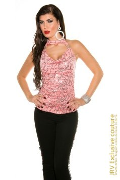 Top Timea Coral marca JRV Exclusive Couture la  Lei