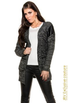 Cardigan Zayra Black marca JRV Exclusive Couture la  Lei