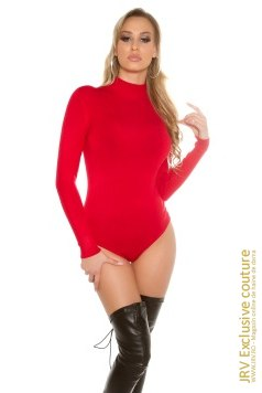 Body tricot Alecya Red marca JRV Exclusive Couture la 88 Lei