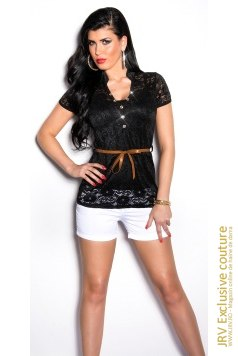 Tricou Kimy Black marca JRV Exclusive Couture la 119 Lei