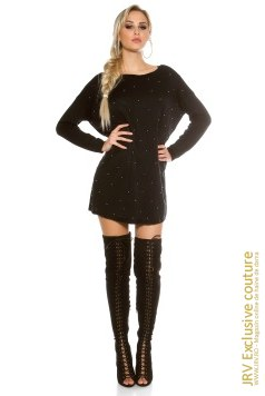 Rochie tricot Mabel Black marca JRV Exclusive Couture la 99 Lei