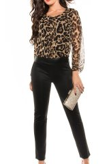 Salopeta Mika Animal Print - Magazin online haine de dama Fashion