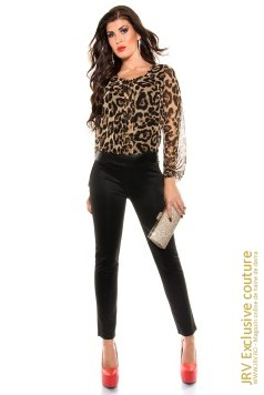 Salopeta Mika Animal Print marca JRV Exclusive Couture la 142 Lei