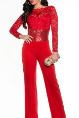 Salopeta Kristal Red - Magazin online haine de dama Fashion