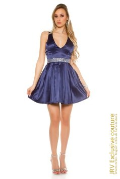 Rochie baby doll Abeer Dark Blue marca JRV Exclusive Couture la 99 Lei