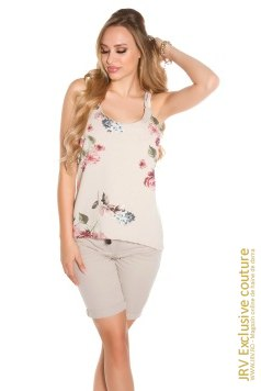 Top Kristyn Beige marca JRV Exclusive Couture la  Lei
